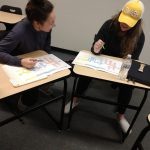 IS4220 students working on their revised journey maps
